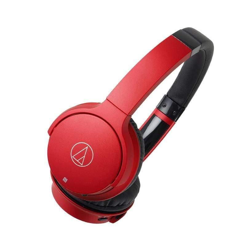 【audio-technica 鐵三角】ATH-AR3BT 無線耳罩式耳機-紅