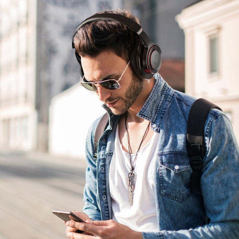 鐵三角|【audio-technica 鐵三角】ATH-WS990BT 無線降躁耳罩式耳機 麥克風組