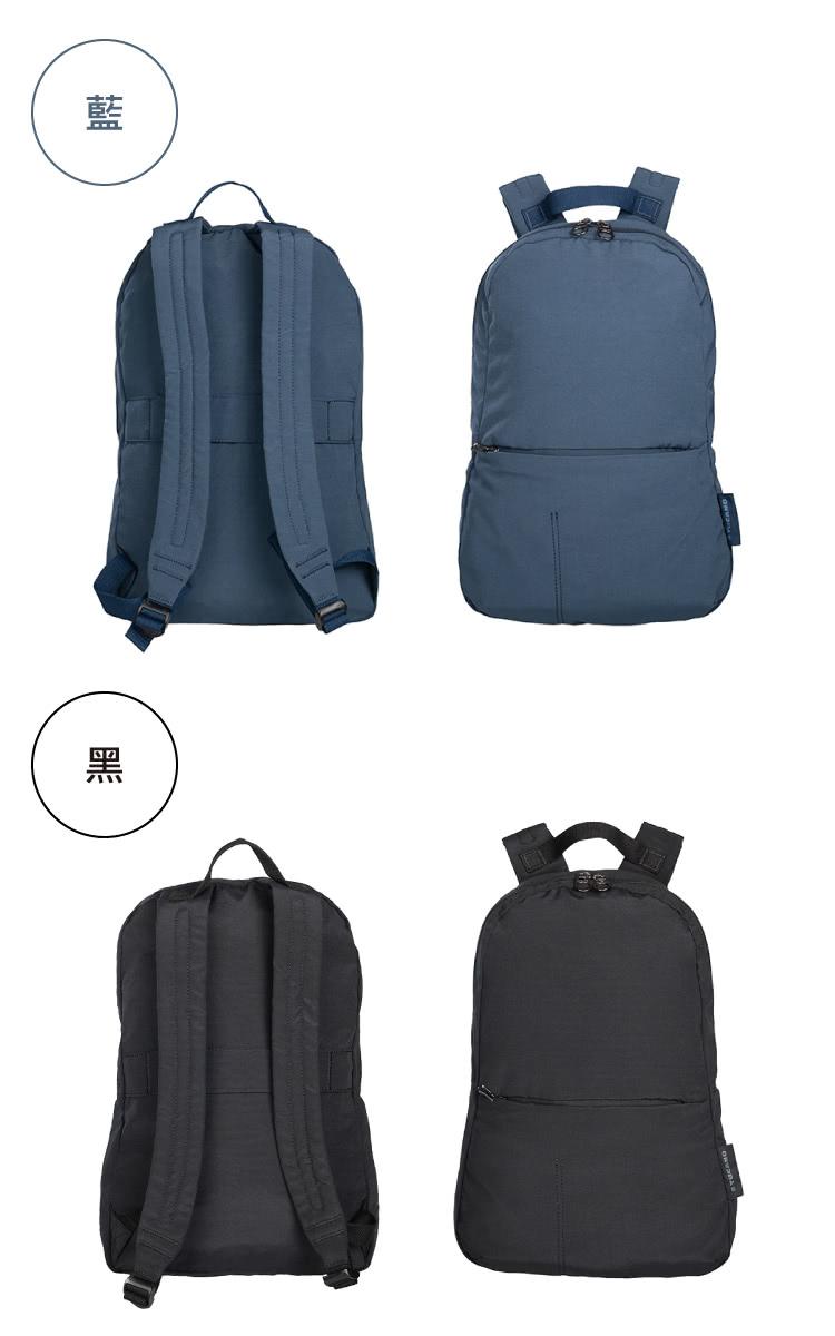 TUCANO|TUCANO ECOCOMPACT 環保厚磅尼龍折疊旅攜後背包 藍