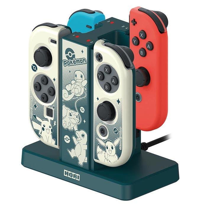 【NS周邊】Nintendo Switch 雙手把充電座+Joy-Con PC保護殼(寶可夢款)《HORI (AD13-001A)》