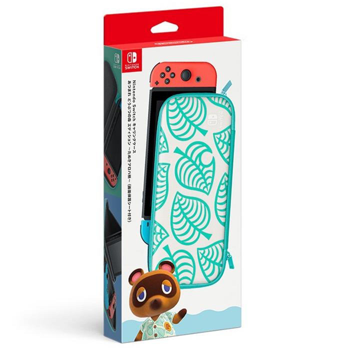 【NS周邊】Nintendo Switch 集合啦!動物森友會版 〜Nook夏威夷花紋〜 款配件包(保護包+液晶保護貼)